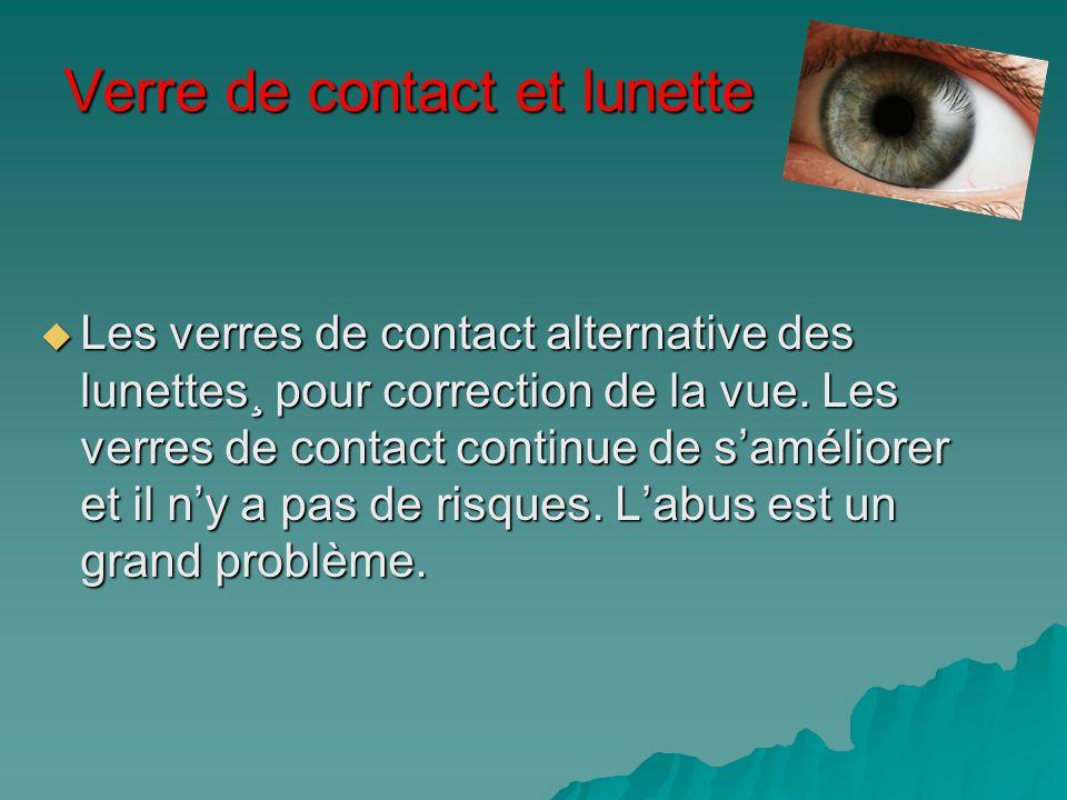 Verre de contact et lunette