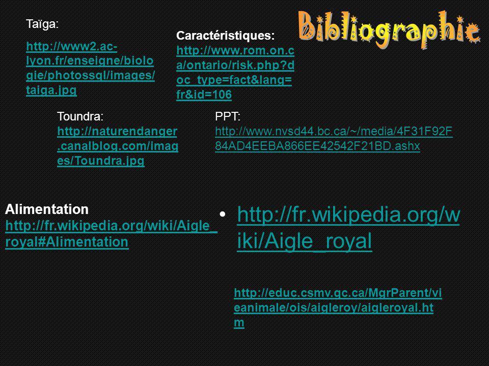 Bibliographie http://fr.wikipedia.org/wiki/Aigle_royal