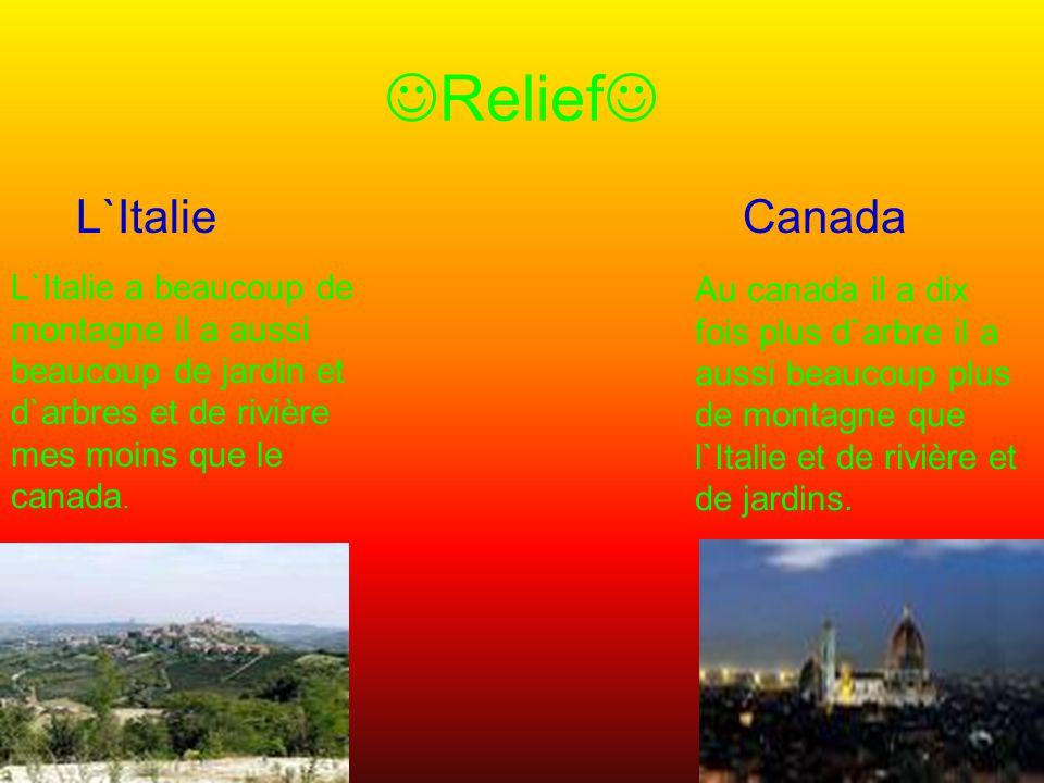 Relief L`Italie Canada