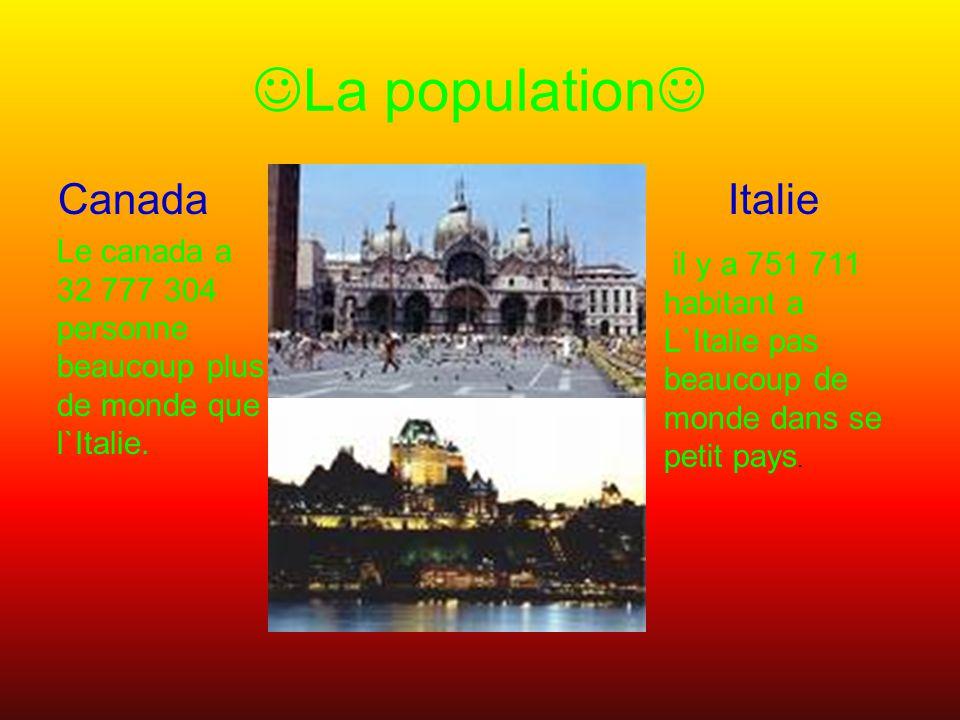 La population Canada Italie