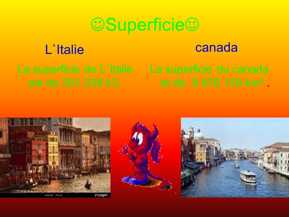 Superficie canada L`Italie