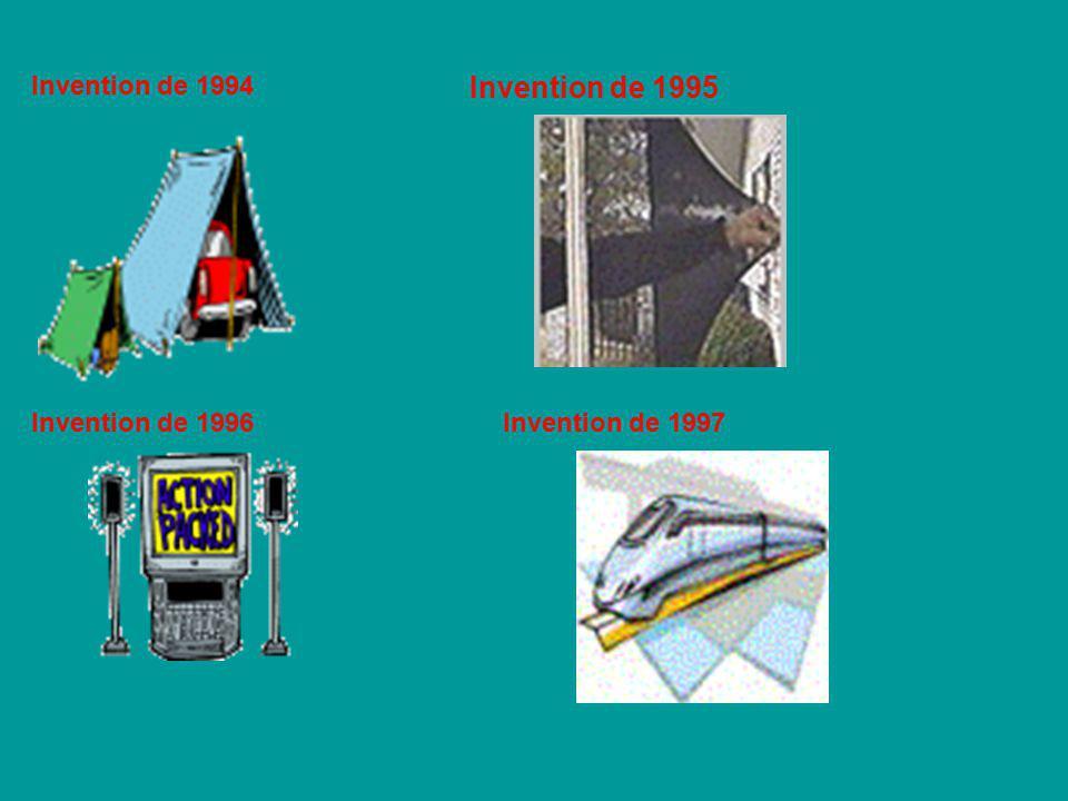 Invention de 1995 Invention de 1994 Invention de 1996