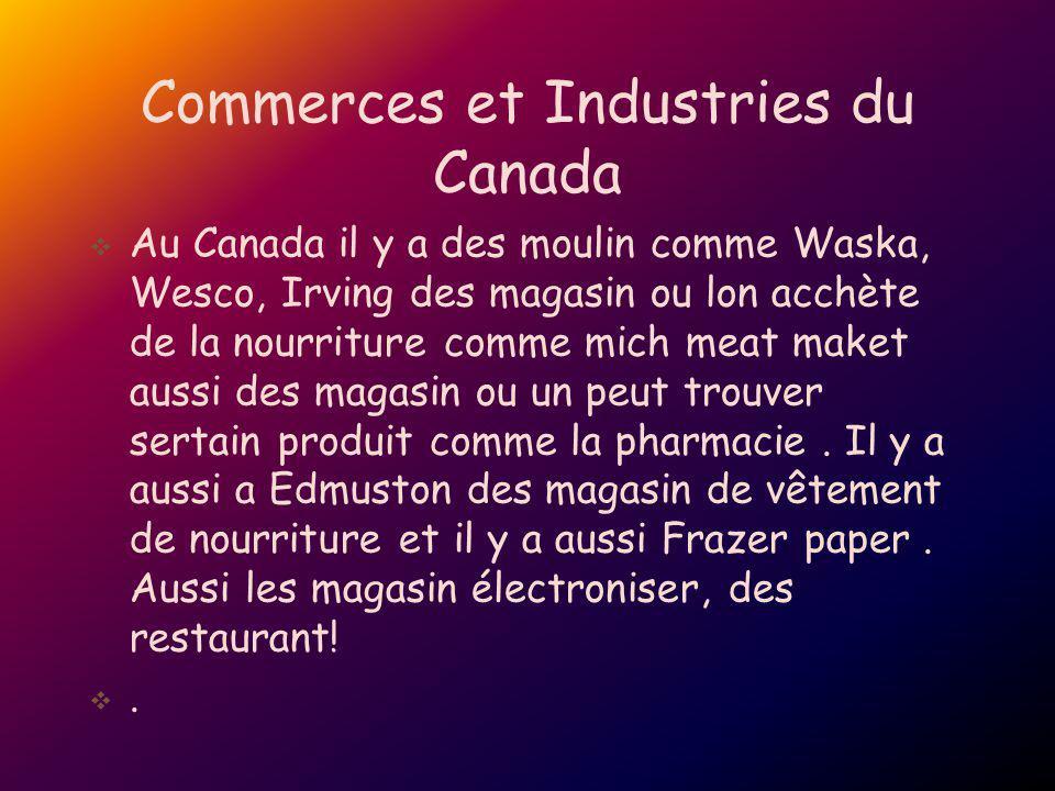 Commerces et Industries du Canada