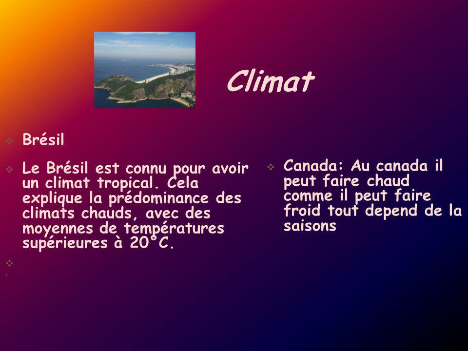 Climat Brésil.
