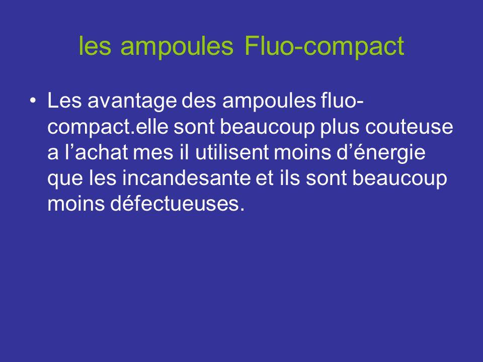les ampoules Fluo-compact