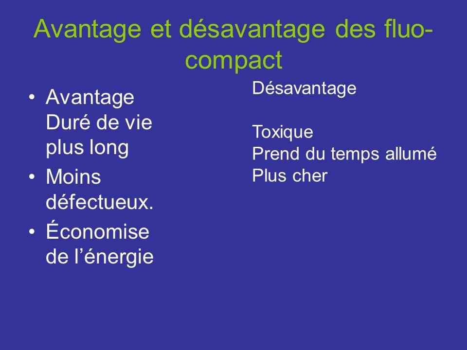 Avantage et désavantage des fluo-compact