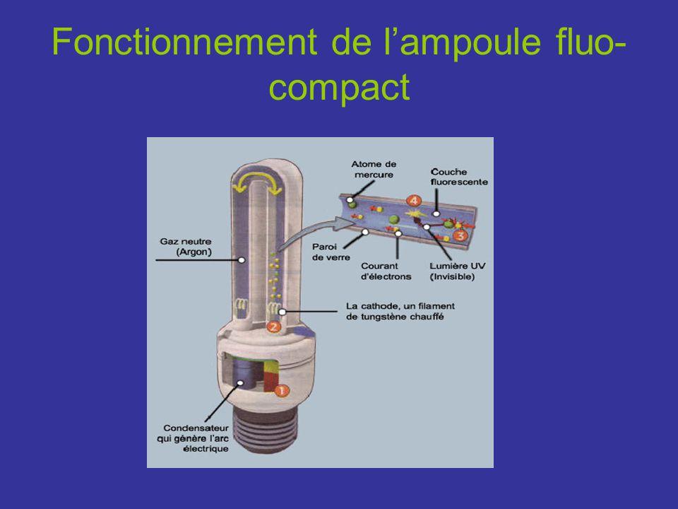 Fonctionnement de l'ampoule fluo-compact
