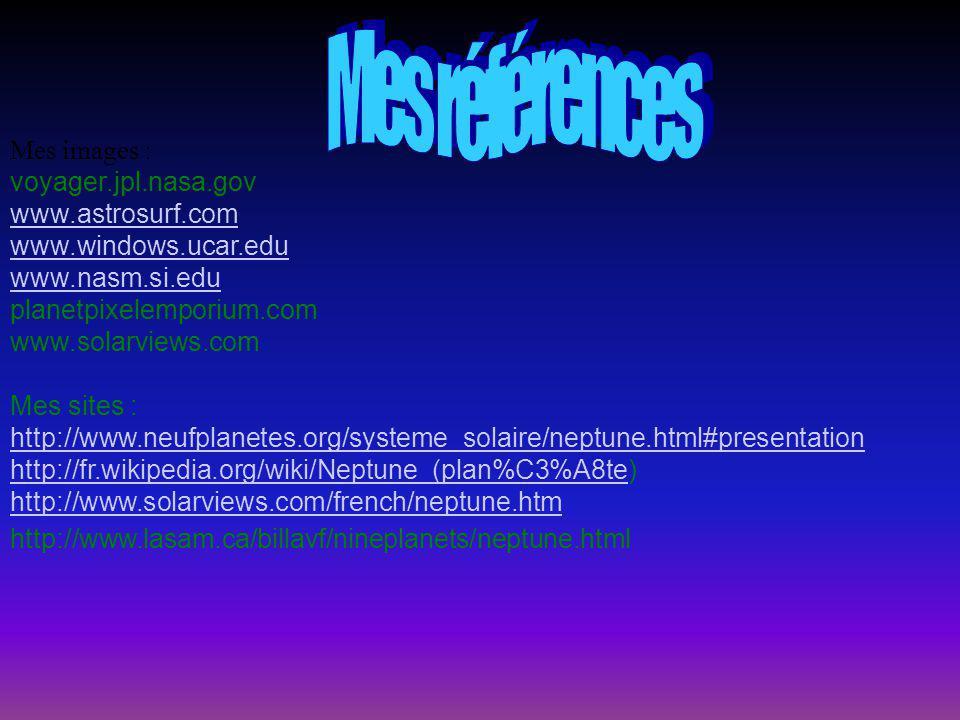 Mes références Mes images : voyager.jpl.nasa.gov www.astrosurf.com