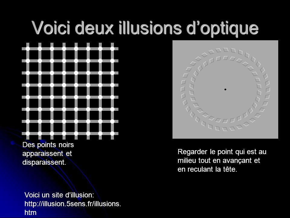 Voici deux illusions d'optique