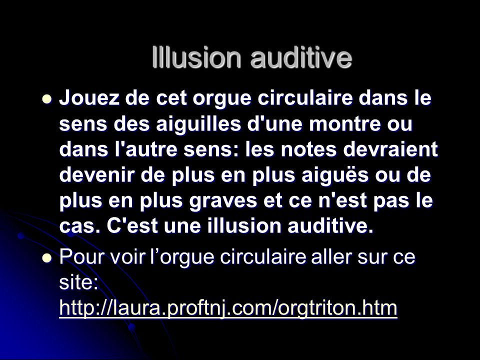 Illusion auditive