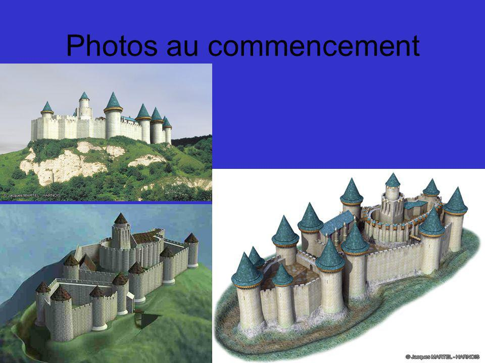 Photos au commencement