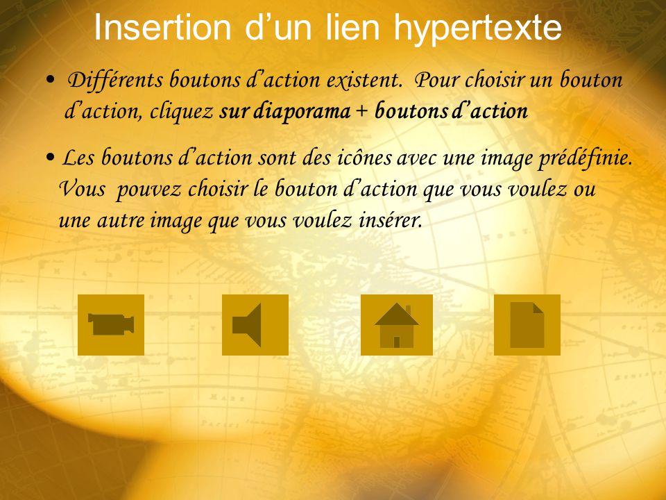 Insertion d'un lien hypertexte