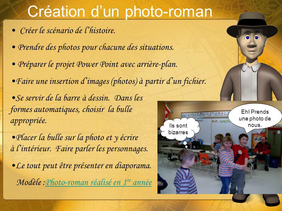 Création d'un photo-roman
