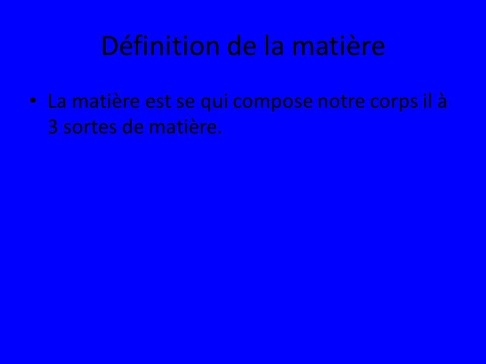 Définition de la matière