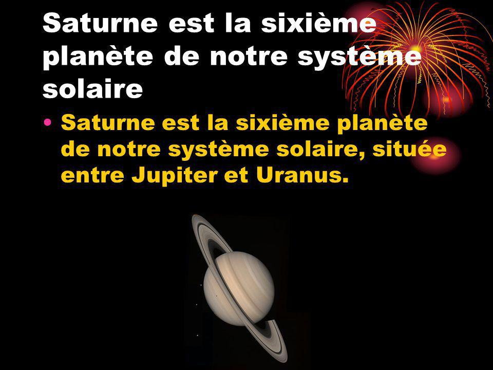 Saturne est la sixième planète de notre système solaire
