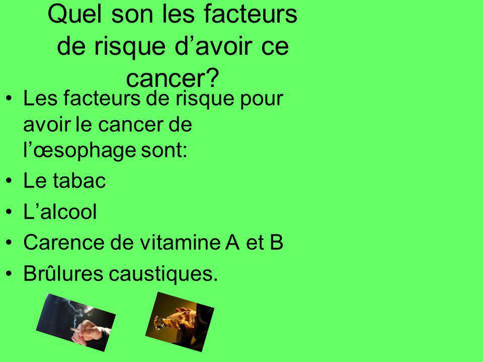 Quel son les facteurs de risque d'avoir ce cancer