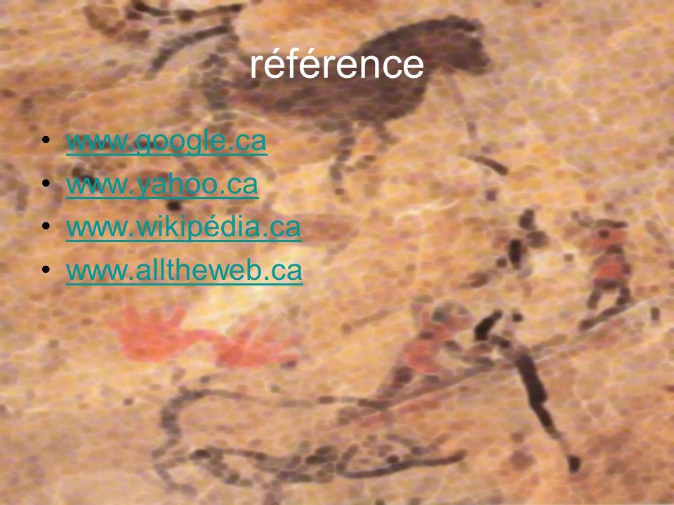 référence www.google.ca www.yahoo.ca www.wikipédia.ca www.alltheweb.ca