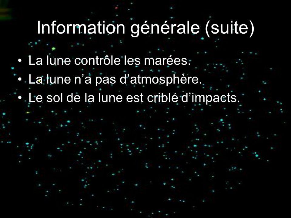 Information générale (suite)