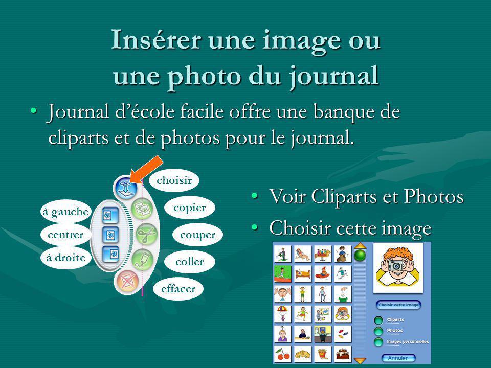 Insérer une image ou une photo du journal
