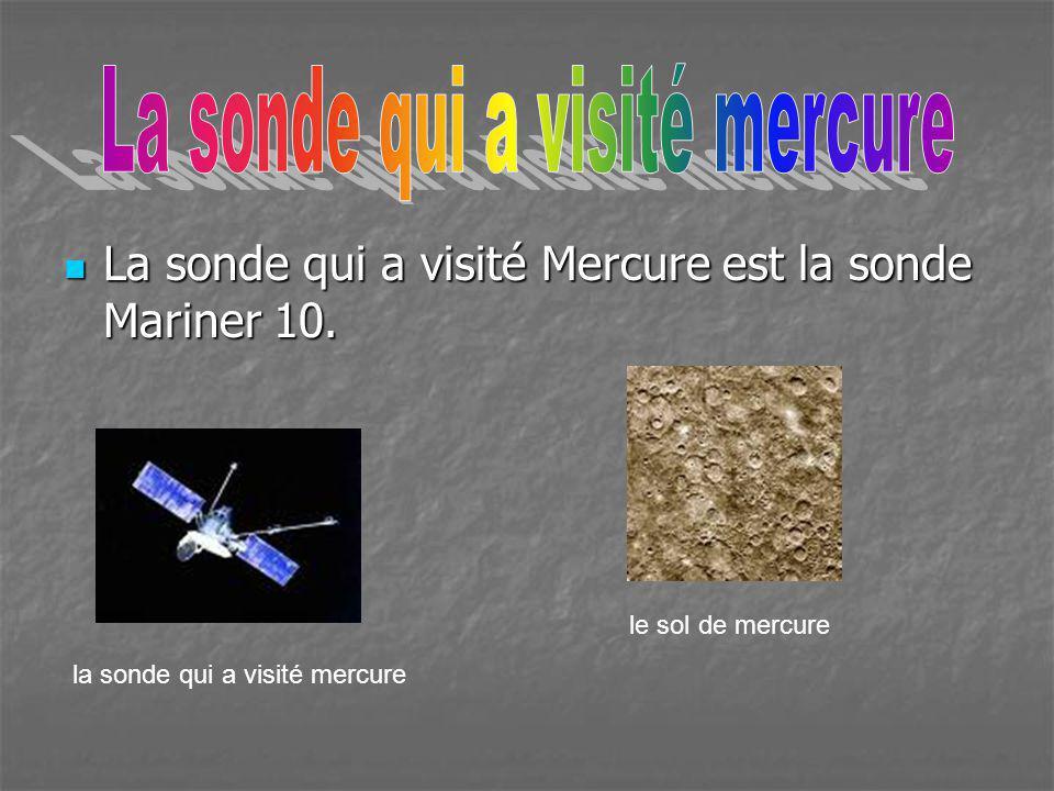 La sonde qui a visité mercure