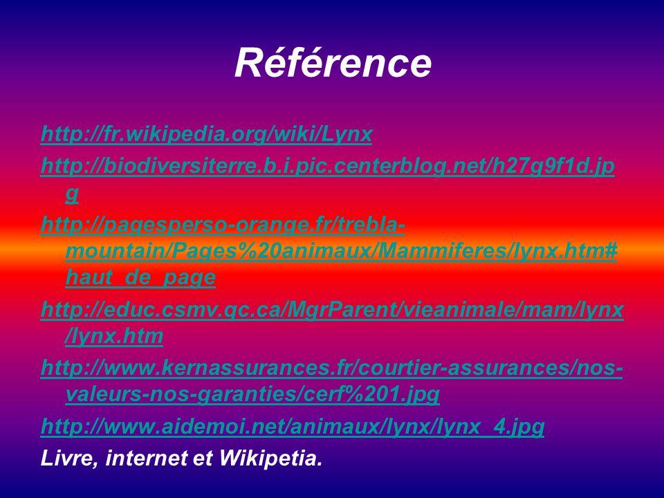 Référence http://fr.wikipedia.org/wiki/Lynx