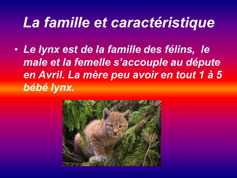 La famille et caractéristique