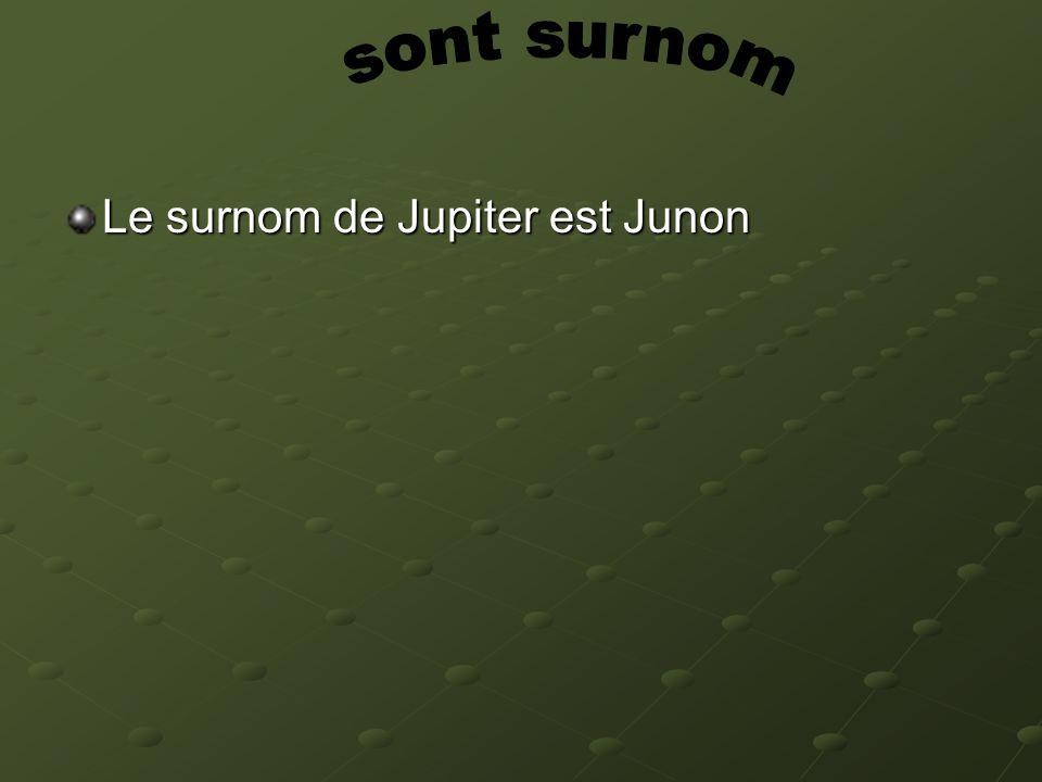 sont surnom Le surnom de Jupiter est Junon