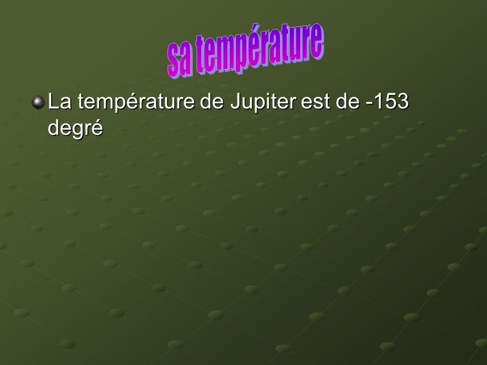 sa température La température de Jupiter est de -153 degré