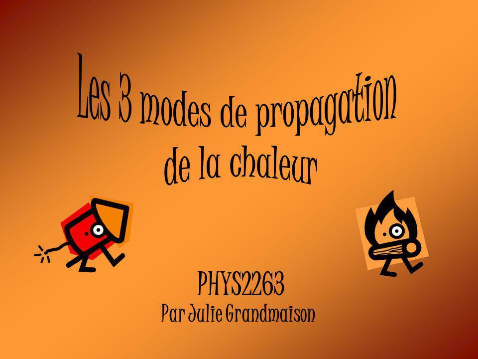 Les 3 modes de propagation
