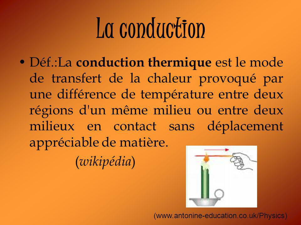 La conduction