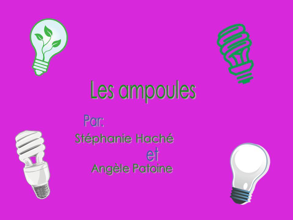 Les ampoules Par: Stéphanie Haché et Angèle Patoine