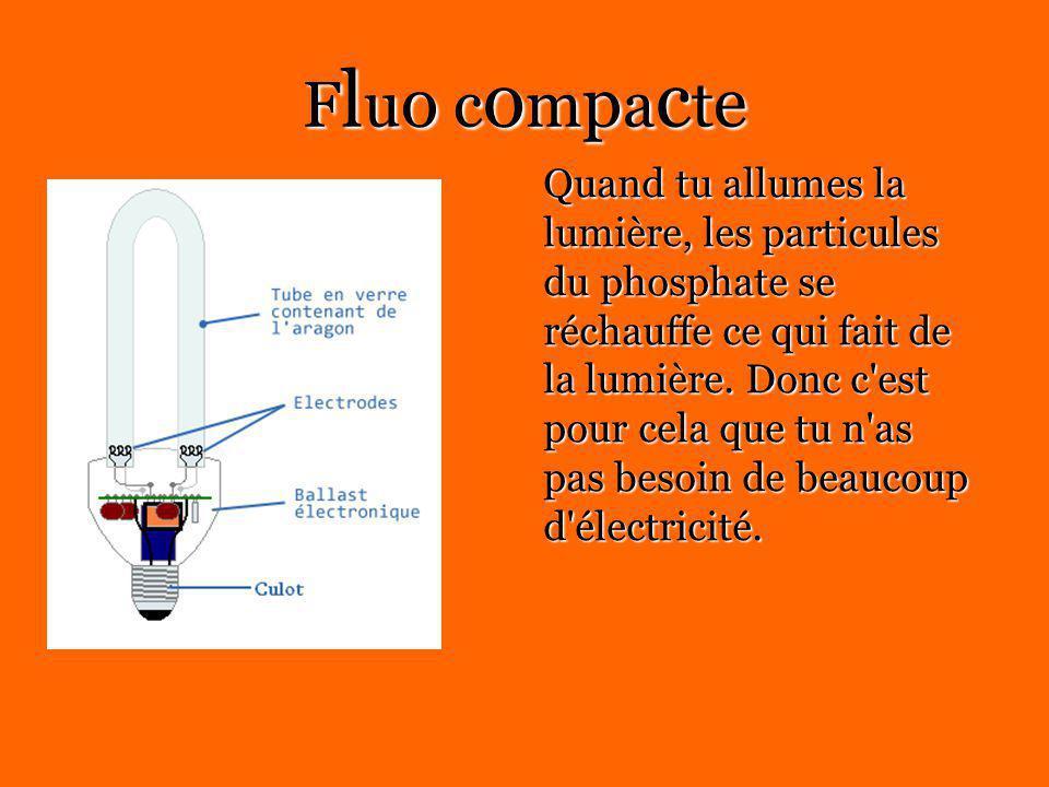 Fluo compacte Quand tu allumes la lumière, les particules