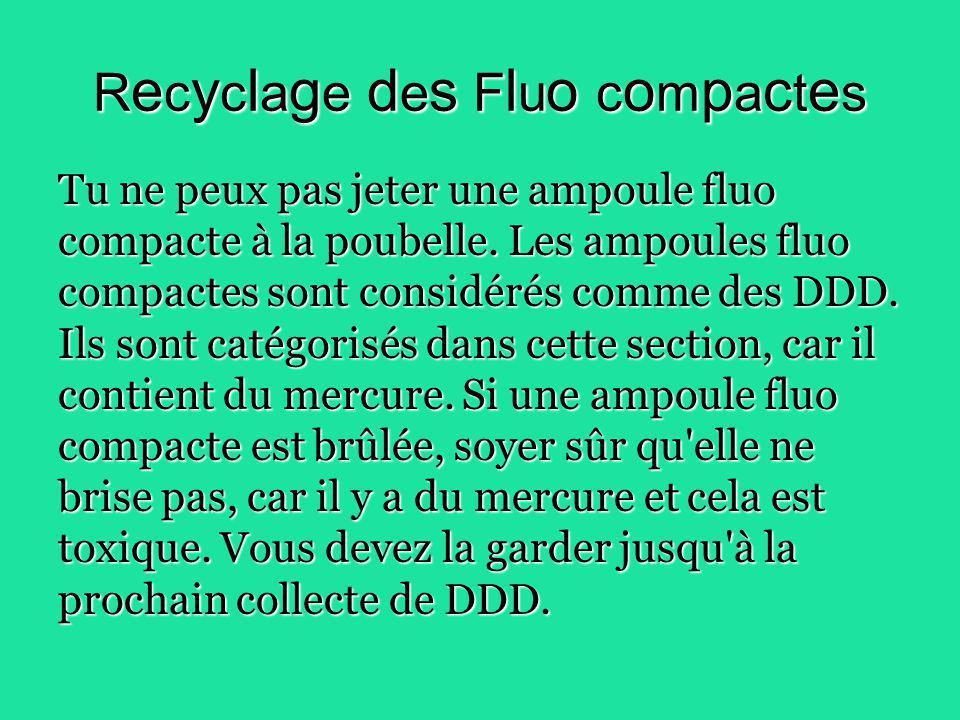 Recyclage des Fluo compactes