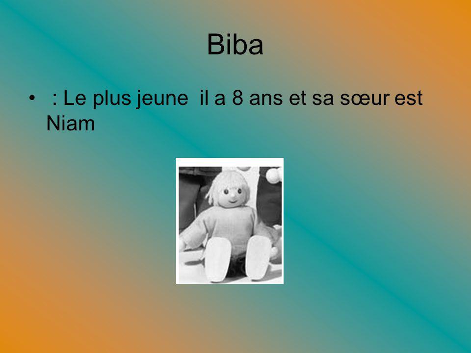 Biba : Le plus jeune il a 8 ans et sa sœur est Niam