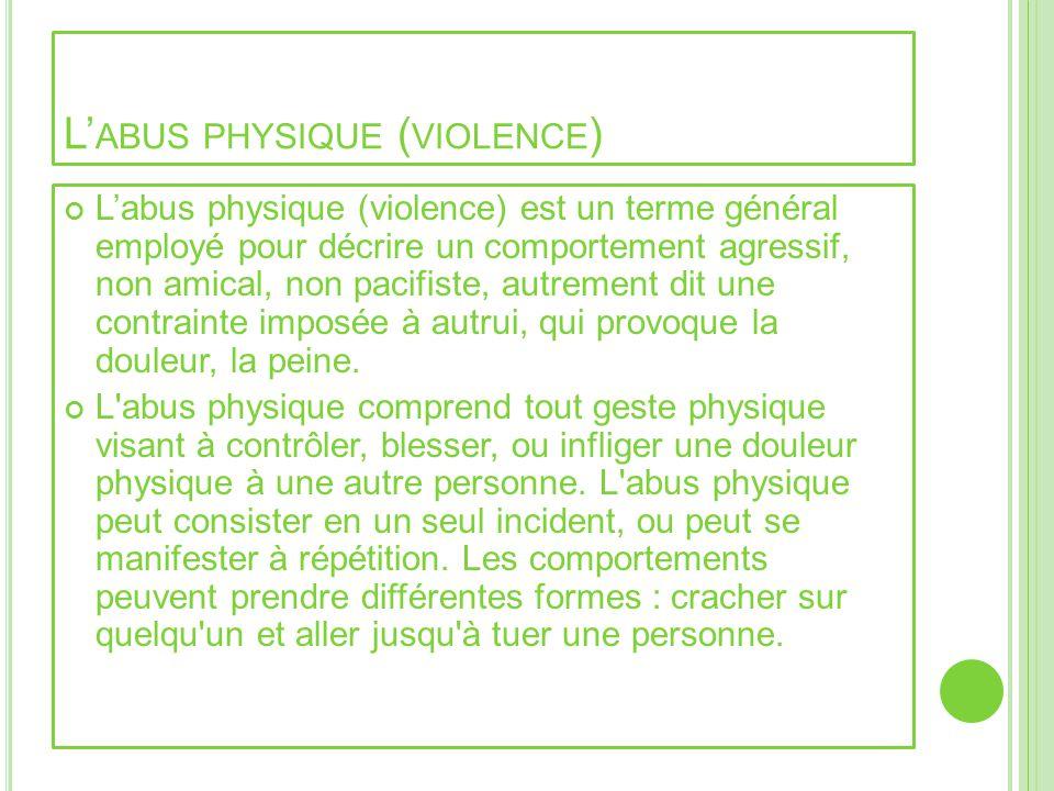 L'abus physique (violence)