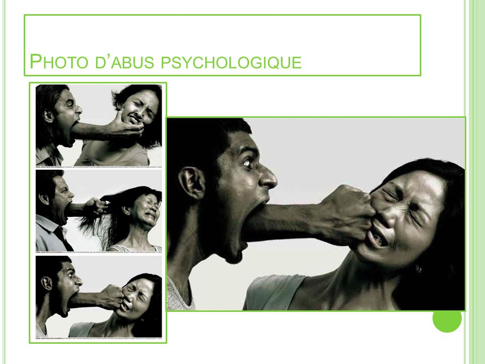 Photo d'abus psychologique