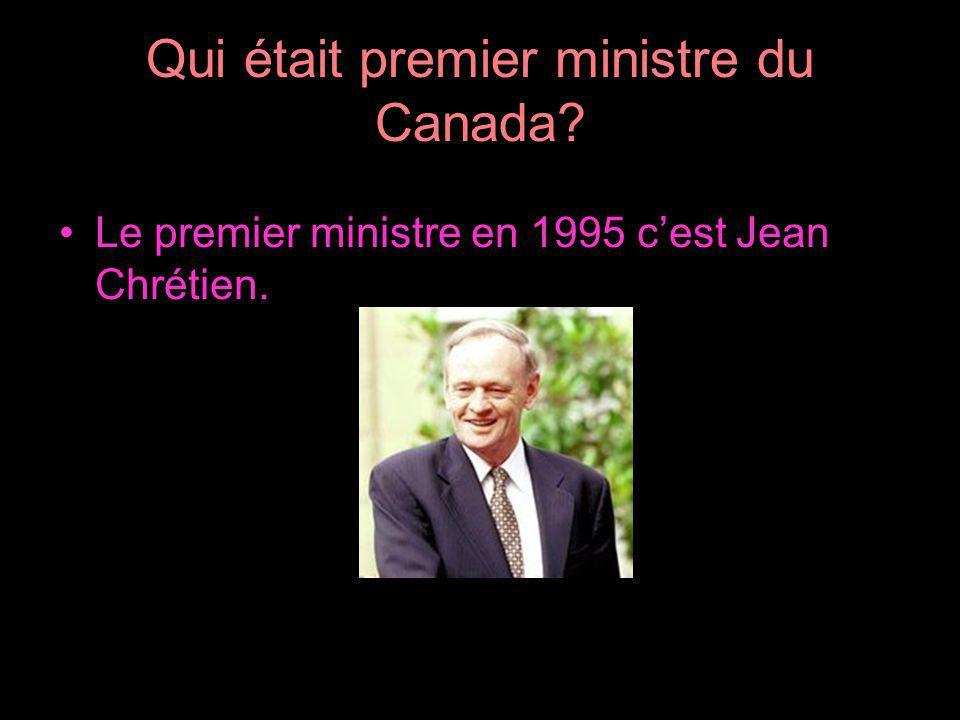 Qui était premier ministre du Canada