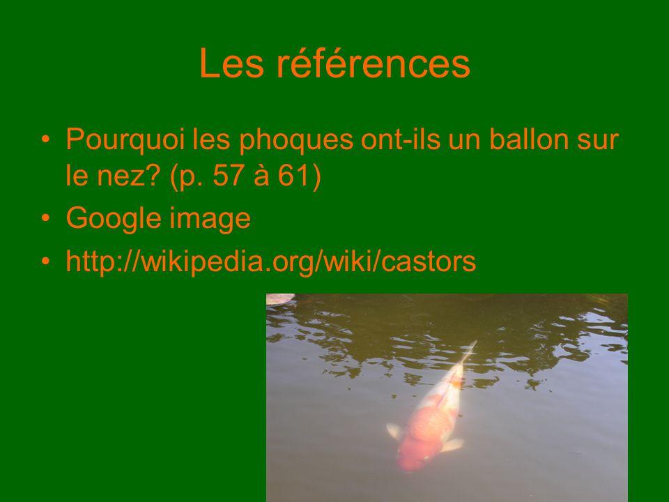Les références Pourquoi les phoques ont-ils un ballon sur le nez.
