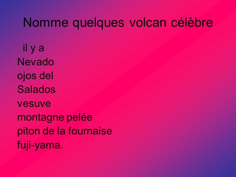 Nomme quelques volcan célèbre