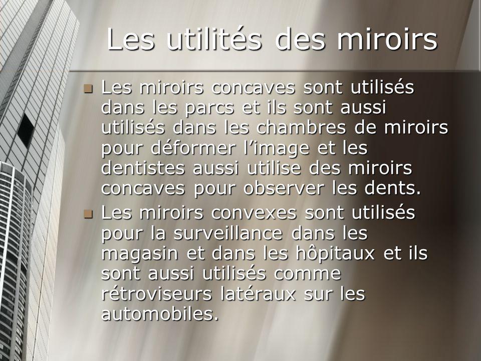 Les utilités des miroirs