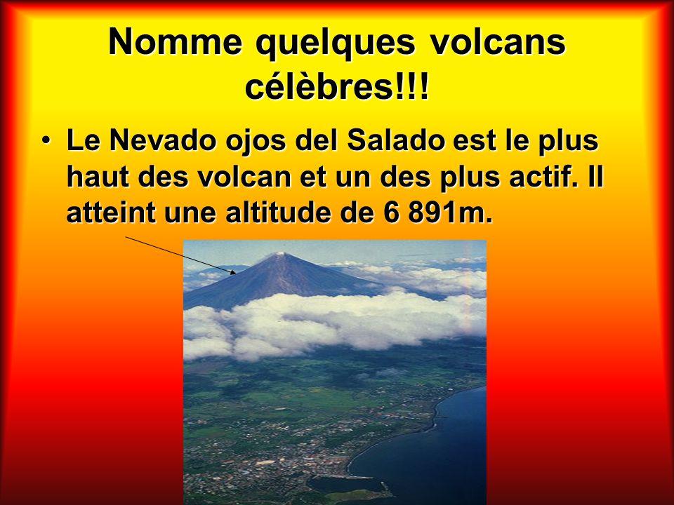 Nomme quelques volcans célèbres!!!