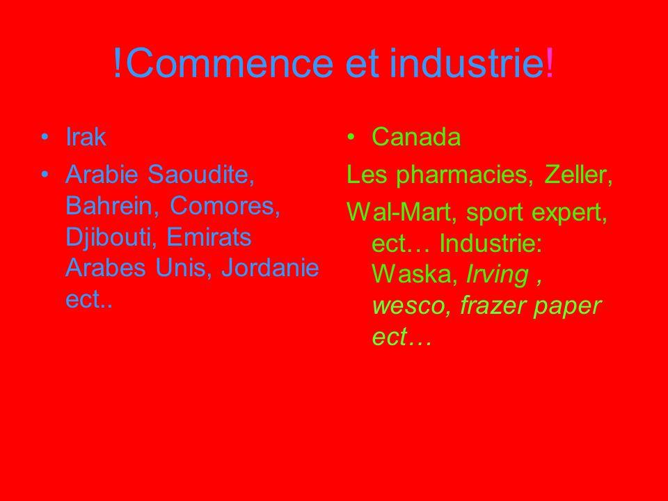 !Commence et industrie! Irak