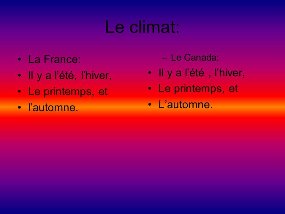 Le climat: La France: Il y a l'été , l'hiver, Il y a l'été, l'hiver,