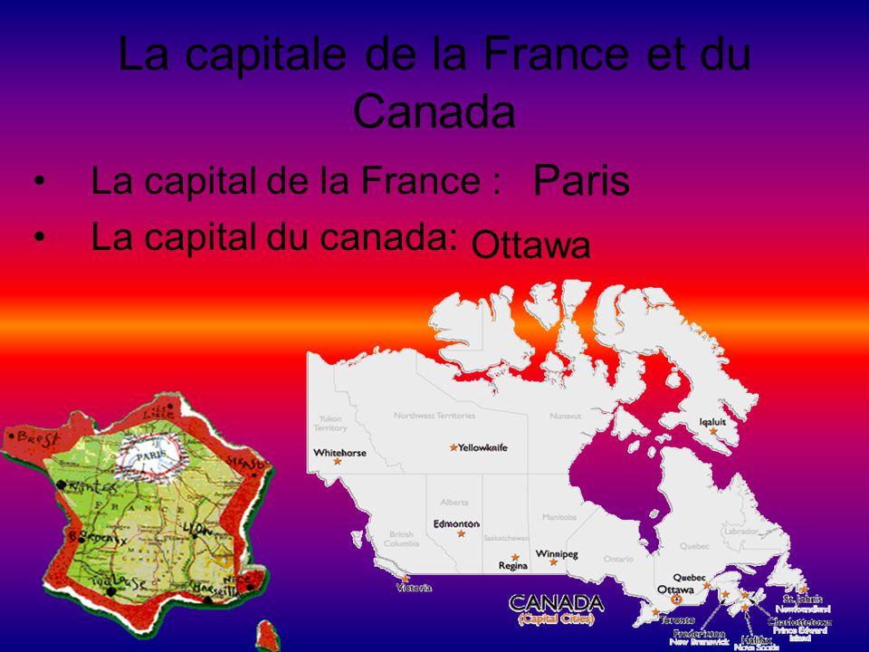 La capitale de la France et du Canada