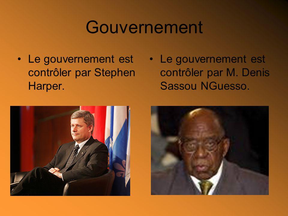 Gouvernement Le gouvernement est contrôler par Stephen Harper.