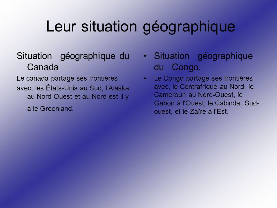 Leur situation géographique