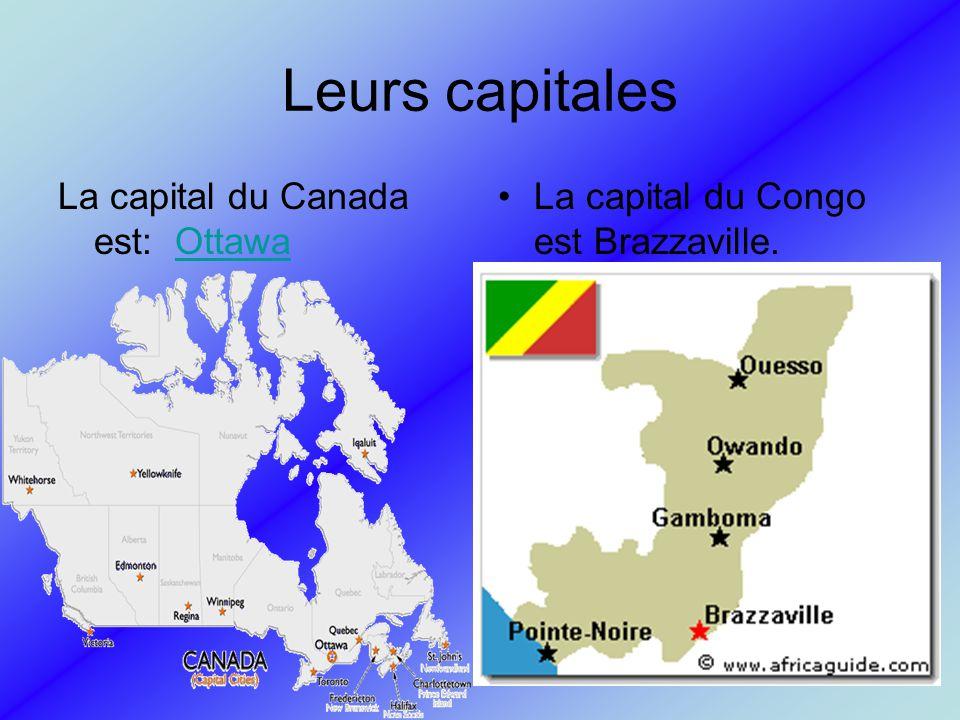 Leurs capitales La capital du Canada est: Ottawa