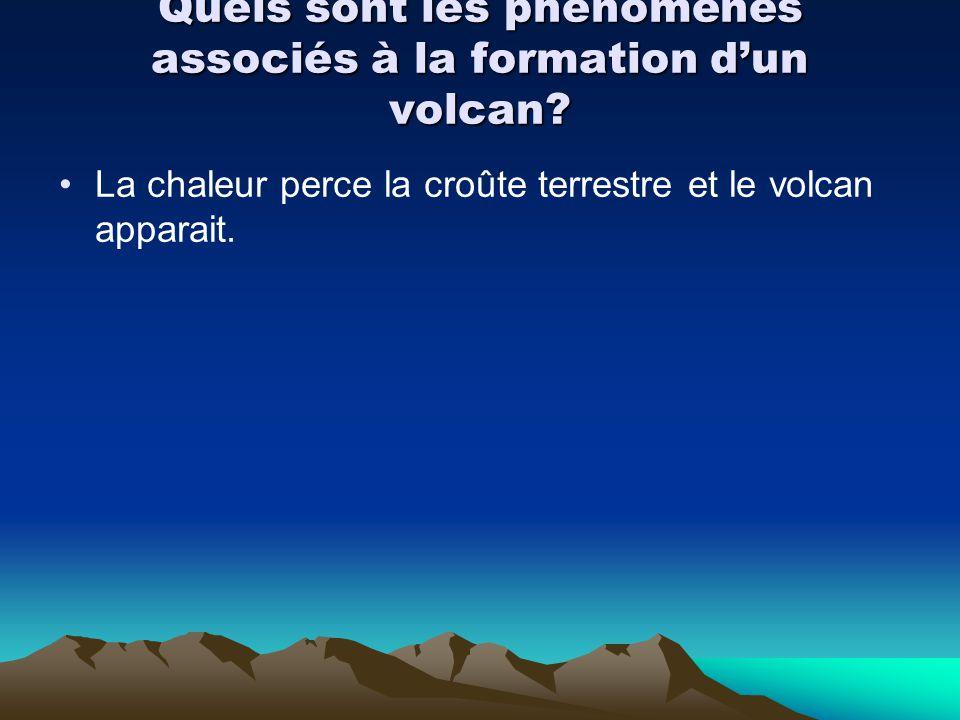 Quels sont les phénomènes associés à la formation d'un volcan