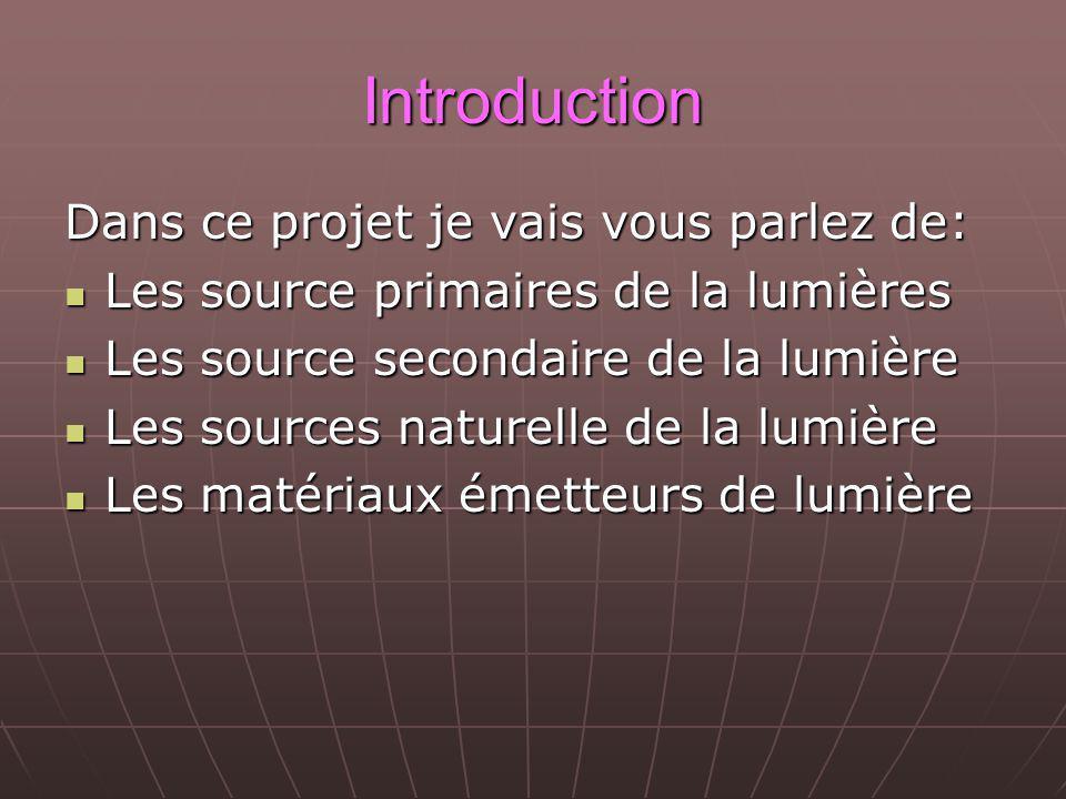 Introduction Dans ce projet je vais vous parlez de: