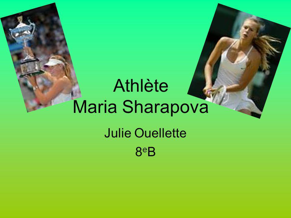 Athlète Maria Sharapova